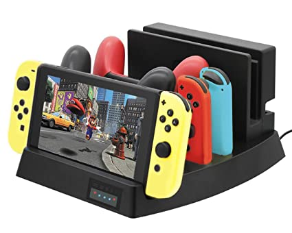 ElecGear Soporte y Estación de Carga compatible con Nintendo Switch, Playstand USB Type C Cargador Stand Charger Charging Dock Station para Switch ...