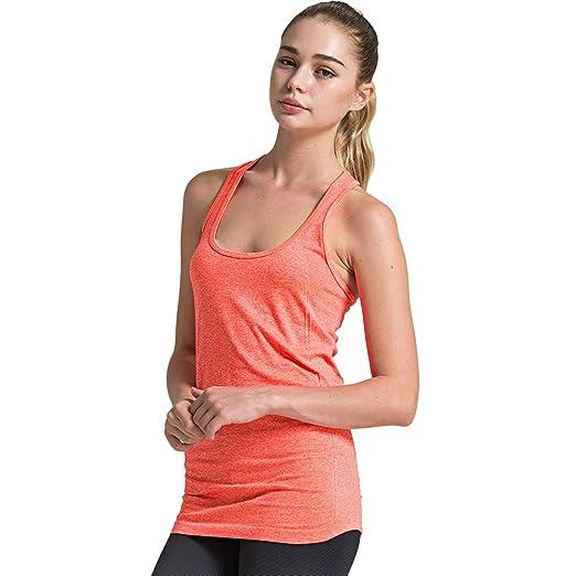 fea940efaa8 Semath Women s Stretchable Gym Workout Waistcoat Racerback Tank Tops