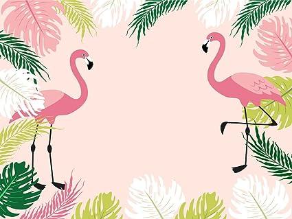 Muzi Fotografía fondos flamencos niños cumpleaños fiesta Banner fondo hogar decoración princesa Baby Shower Photo Booth postre mesa estudio Props 200 ...