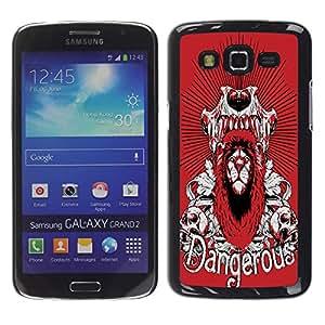 Dragon Case - FOR Samsung Galaxy Grand 2 - Warmness is luxury - Caja protectora de pl??stico duro de la cubierta Dise?¡Ào Slim Fit