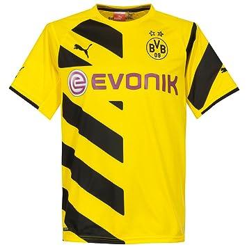 Puma BVB - Camiseta de fútbol Home Réplica Camiseta, amarillo/negro, XL adultos: Amazon.es: Deportes y aire libre