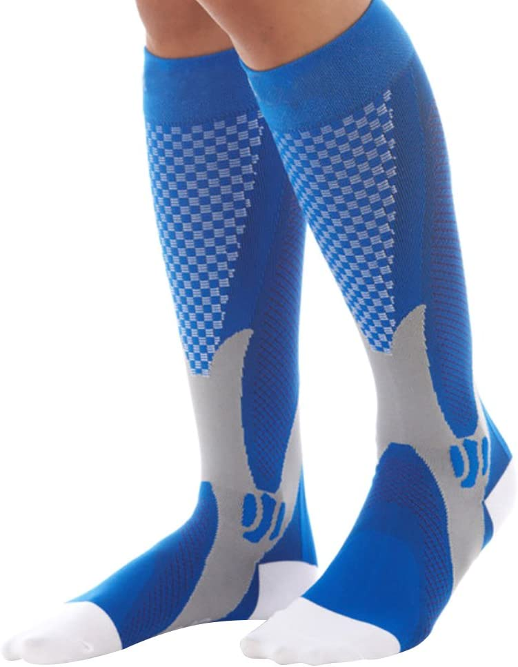 Wishwin Support Unisexe Compression Stretch Chaussettes Performance Sports Running Chaussettes