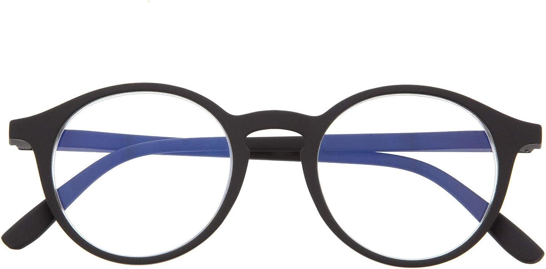 Gafas con Filtro Anti Luz Azul para Ordenador. Gafas de Presbicia o Lectura para Hombre y Mujer. Tacto Goma, Patillas Flexibles y Cristales Anti-reflejantes. 6 colores y 6 graduaciones – UFFIZI