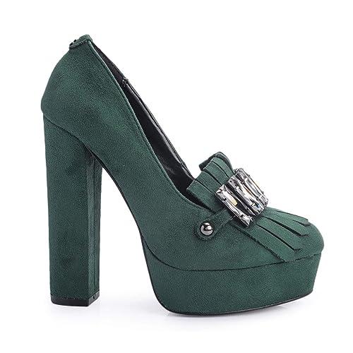 GUESS Mujer Mocasines flmrn4 fab14 Green mocasín Marina Size: 35 EU: Amazon.es: Zapatos y complementos