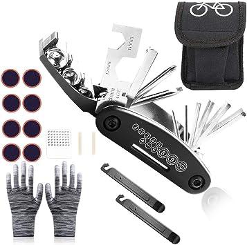 Sunshine smile Kit de Reparación de Bicicleta, Kit Herramientas ...