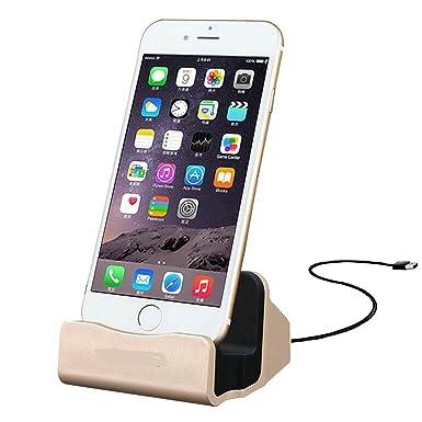 6817fea0189 Newsunshine iPhone cargador Dock cargador de escritorio, soporte cargador y  sincronizador para iPhone 7 iPhone