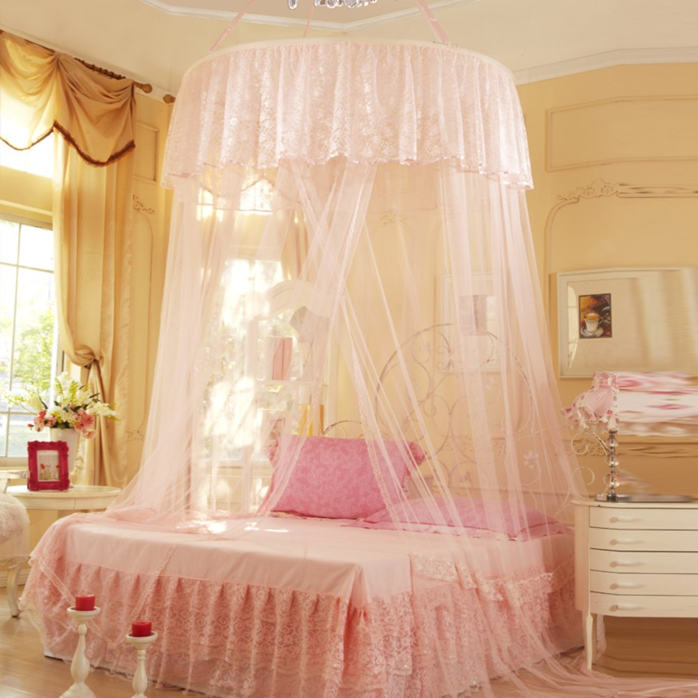 Palace Princess Dream,Double Suction Cups/Fashion,Ceiling Mosquito Nets/Fine Ceiling Dome Nets-B B