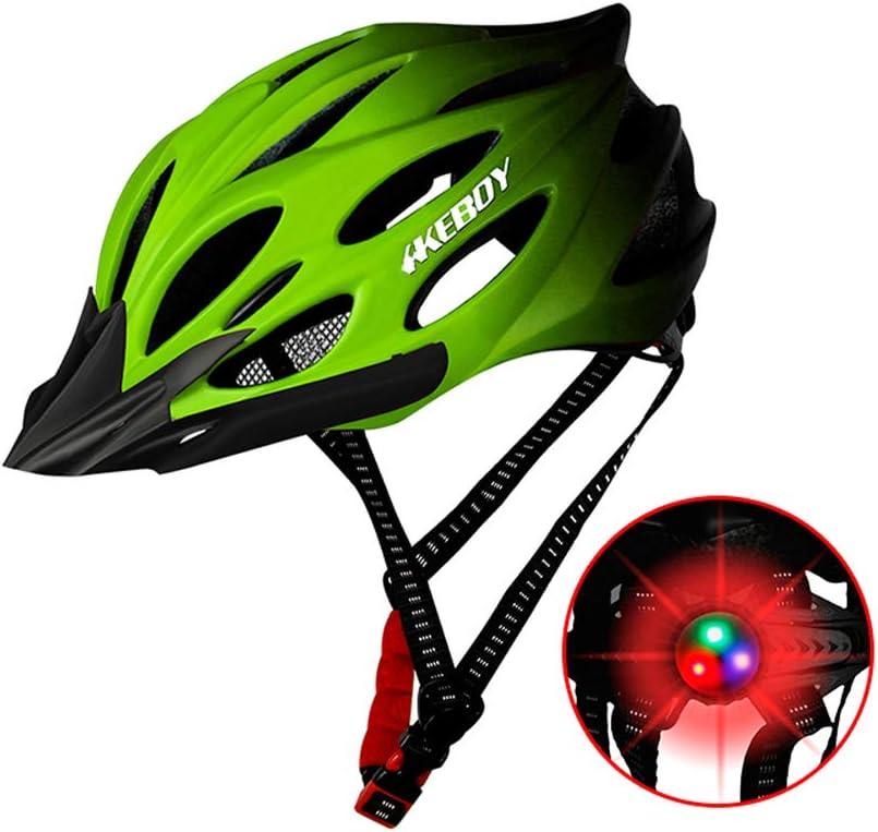 CLL Casco de Bicicleta para Adultos: Casco de Ciclismo Luces ...