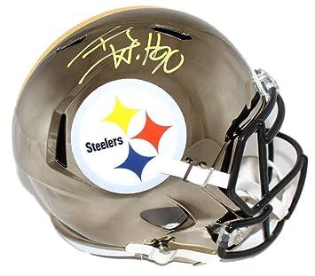 633b3f2ab TJ Watt Autographed Signed Pittsburgh Steelers Chrome Replica Helmet PSA
