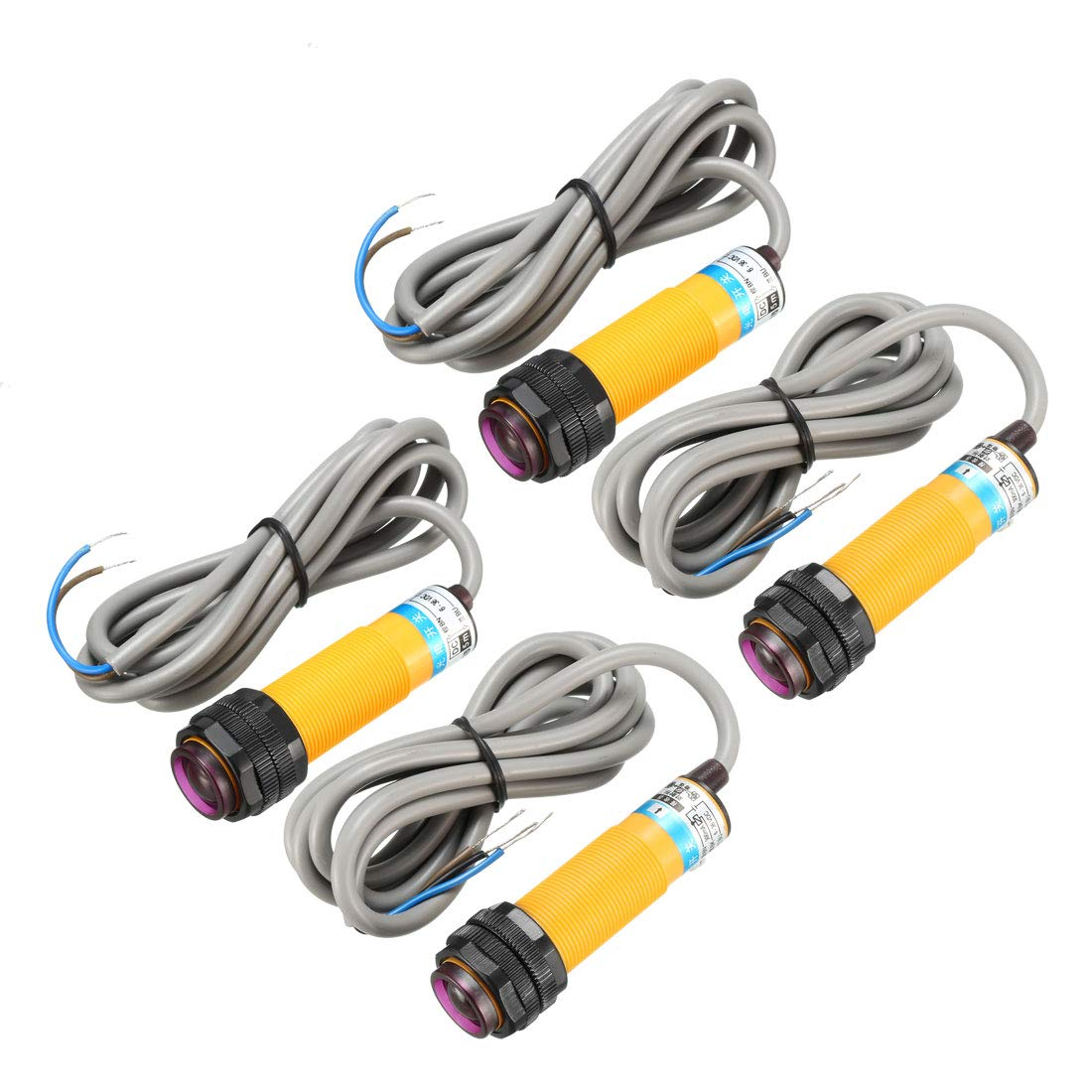 uxcell 2 Pairs 300mA Infrared Ray Through-Beam Reflection Optical Sensor Switch NO DC 6-36V