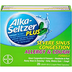 Alka-Seltzer Plus Severe Sinus Congestion Allergy and Cough Liquid Gels, 20 Count