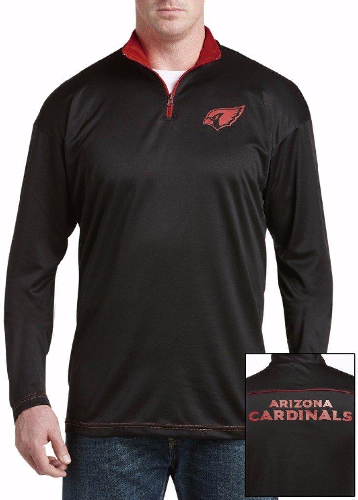 Arizona Cardinals NFL Mens Majestic 2 Sided 1 / 4 Zipフリースシャツブラックビッグトールサイズ 2XT  B01HDNGWUI