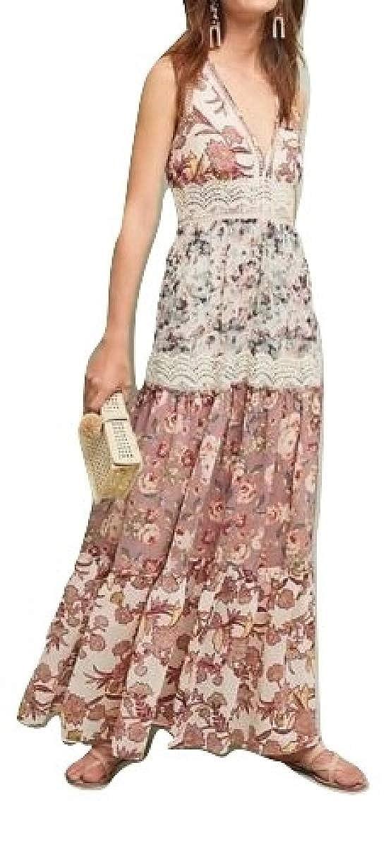 adcd6353da6d1 Amazon.com: Anthropologie Cabaret Floral Maxi Dress by Ranna Gill Sz M -  NWT: Clothing