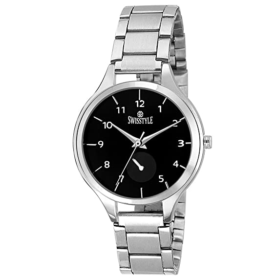 144269bf37e Image Unavailable. Image not available for. Colour  Swisstyle Analogue  Black Dial Women s Watch ...