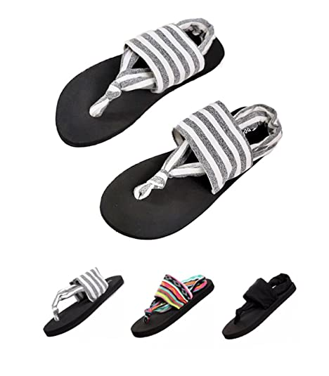 58301e8aac51 Image Unavailable. Image not available for. Color  Donppa Womens Flat  Sandals Flip Flops Yoga Sling