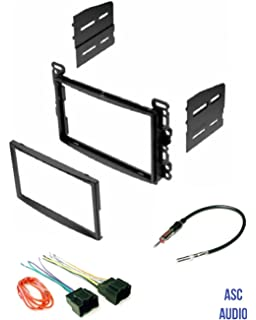 amazon com fits chevy hhr 2006 2012 double din aftermarket asc audio double din car stereo dash kit wire harness and antenna adapter for