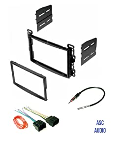 ASC Audio Double Din Car Stereo Dash Kit, Wire Harness, and Antenna Adapter for some Chevrolet Pontiac Saturn LAN11 Vehicles - Compatible Vehicles Listed Below