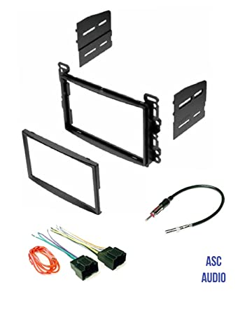 61mw44ebsFL._SY450_ amazon com asc audio double din car stereo dash kit, wire harness  at readyjetset.co