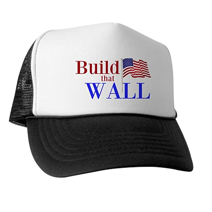 e201324360a Amazon.com  CafePress - Build That Wall Trucker Hat- Unisex ...