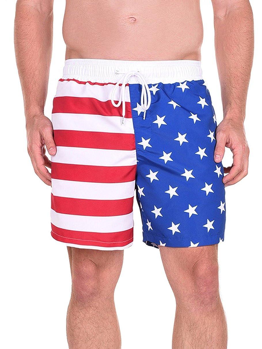 9757356236086 Online Cheap wholesale Tipsy Elves Mens Patriotic USA American Flag Swim  Trunks Trunks Suppliers
