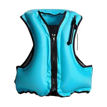 Aolvo Snorkeling Vest Portable Inflatable Zipper Life Jacket Swim Safety  Load For 66-220lbs Men Women Boys Girls Blue  Amazon.co.uk  Kitchen   Home 294343590