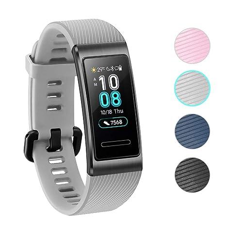 NEWZEROL Compatible pour Huawei Band 3 Pro Bracelet de Protection Bande de Protection Fitness Tracker-Sangles à largage Rapide pour Huawei Band 3 Pro: ...