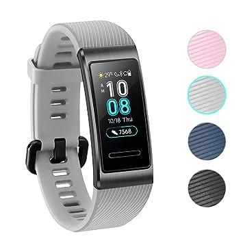 NEWZEROL Compatible con Las Correas Protectoras de Huawei Band 3 Pro Banda Protectora Fitness Tracker - Correas de liberación rápida para Huawei Band ...