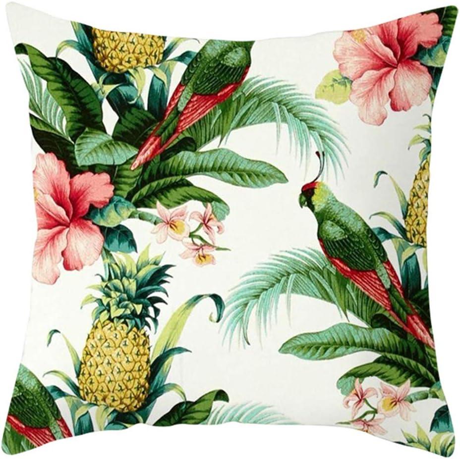 NDANH9896 Planta Tropical Color Loro p/ájaro Simple Moda Creativa Pintura Serie Almohada sin Relleno Nunca se desvanecen 45X45 cm