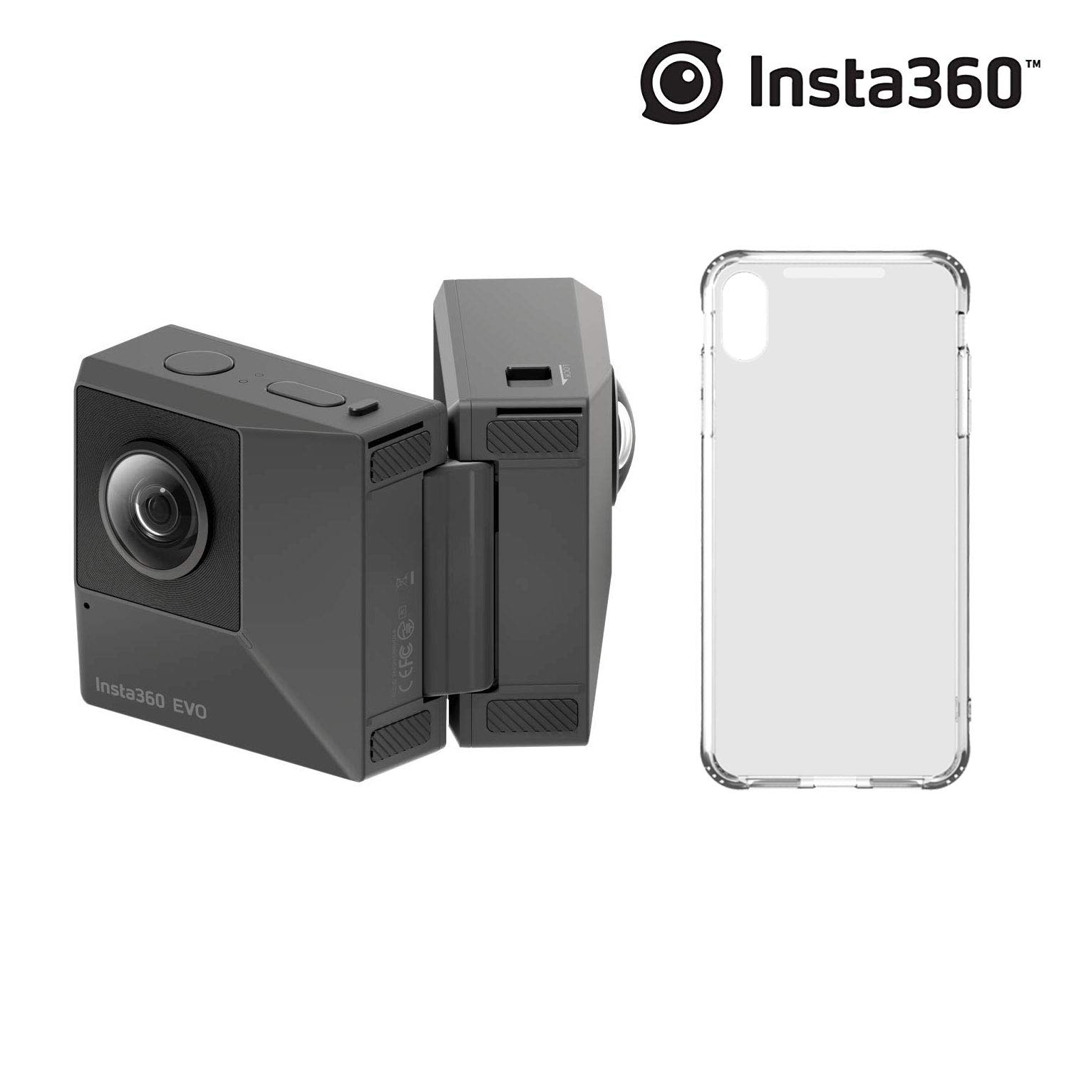 Insta360 EVO + Holoframe, 180 Degree 3D and 360 Fold-able Camera, 5.7K Videos + 18MP Photos, with FlowState Stabilization (EVO + Holo iPhone X/XS) by Insta360