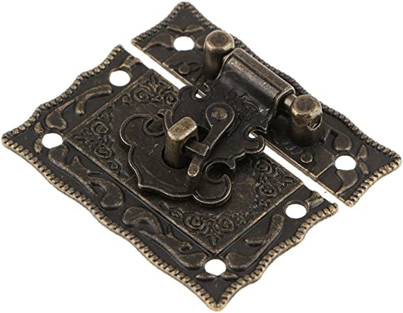 Retro Embossing Jewelry Gift Box Chest Suitcase Hasp Latch Lock /& Mini Hinge Kit