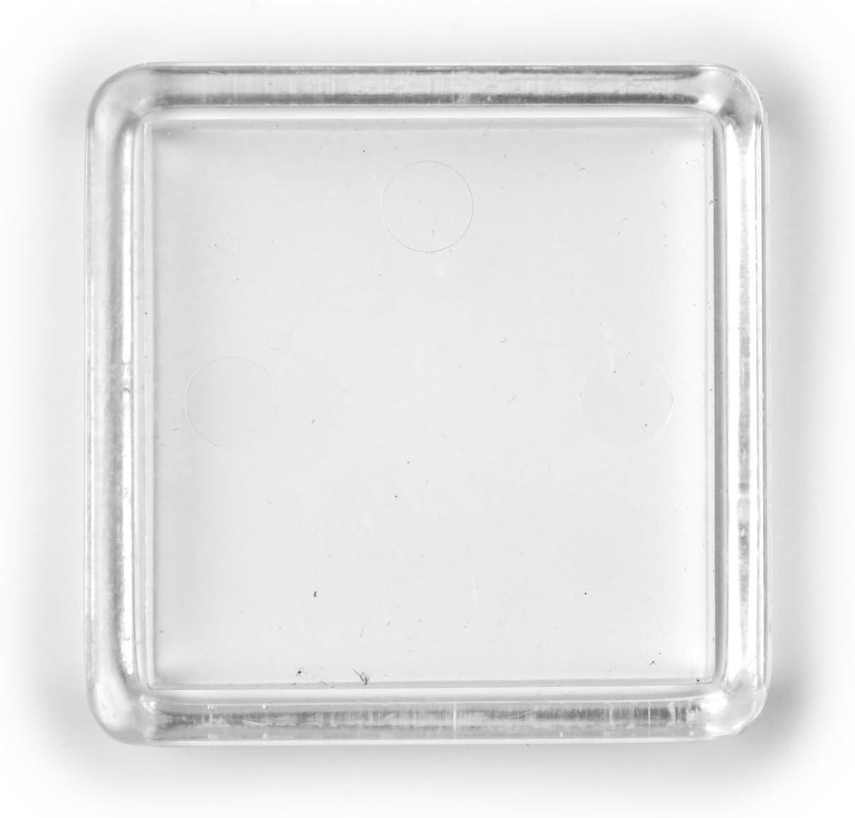 4 pi/èces Transparent Tables K.D.J 35 x 35 mm /à lint/érieur Fabriqu/é en Allemagne Meubles Brand Patins Capuchons pour Pieds de chaises