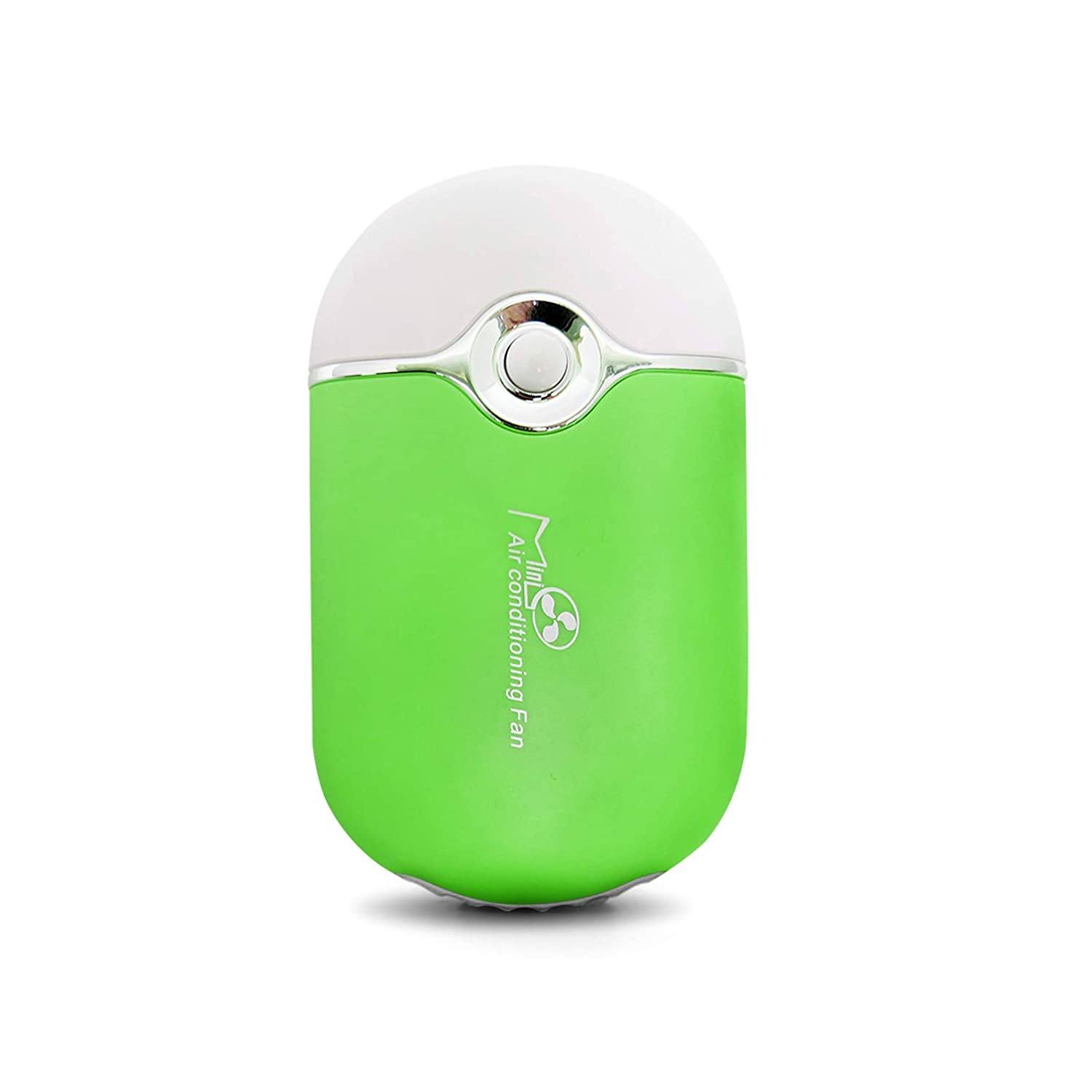 White GreenLife USB Rechargeable Portable Mini Fan Cooling Fan Bladeless Handheld Eyelash Dryer Mini Handheld Fan Air Conditioning Blower for Eyelash Extension