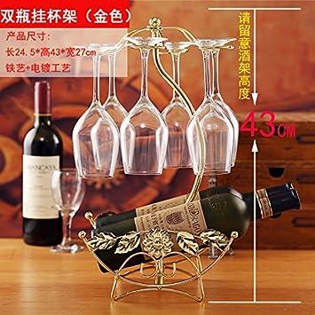 ... bar es parte de la Oficina del salón en casa adornos armario tv amueblado regalos de boda, Botella doble Portavasos de montaje: Amazon.es: Hogar