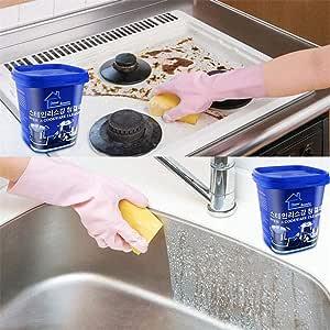 Destinely Pasta de limpieza de, pasta de limpieza mágica, limpiador de acero inoxidable sin agua que limpia las manchas de óxido designer: Amazon.es: Hogar