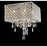MuseumLight Pendant Ceiling Light Crystal Chandelier Fixture Chrome Silver Modern Lamp 4-Lights CA2016-117/D-L4
