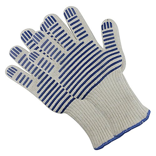 Kizad Scald-proof,Heat-resistant Microwave Oven,Heat-insulated,Oven Gloves, Great For Baking, Grill & Camping/Pack of 2 Blue