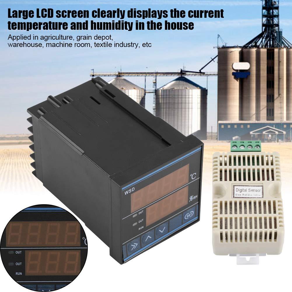 Termostato Controlador De Temperatura LED Digital -40 a 60 Grados Interruptor De Control De Temperatura De Enfriamiento/Calefacción con Salida De Relé ...