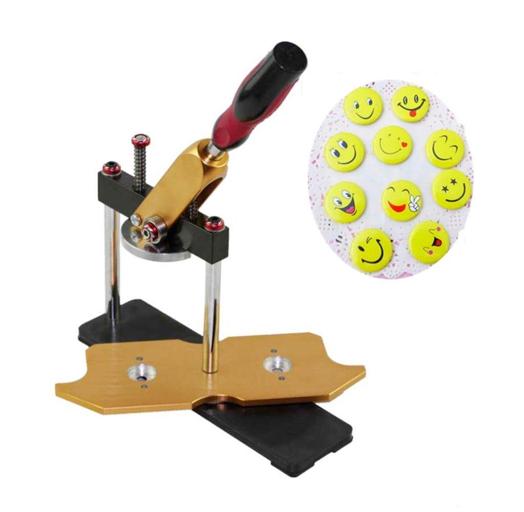 Zorvo Button Maker For Badge Button Maker Machine Button Badge Maker 58mm (2-1/4 inch) School DIY Button Badge Aluminum Frame Free Circle Cutter Metal Punch