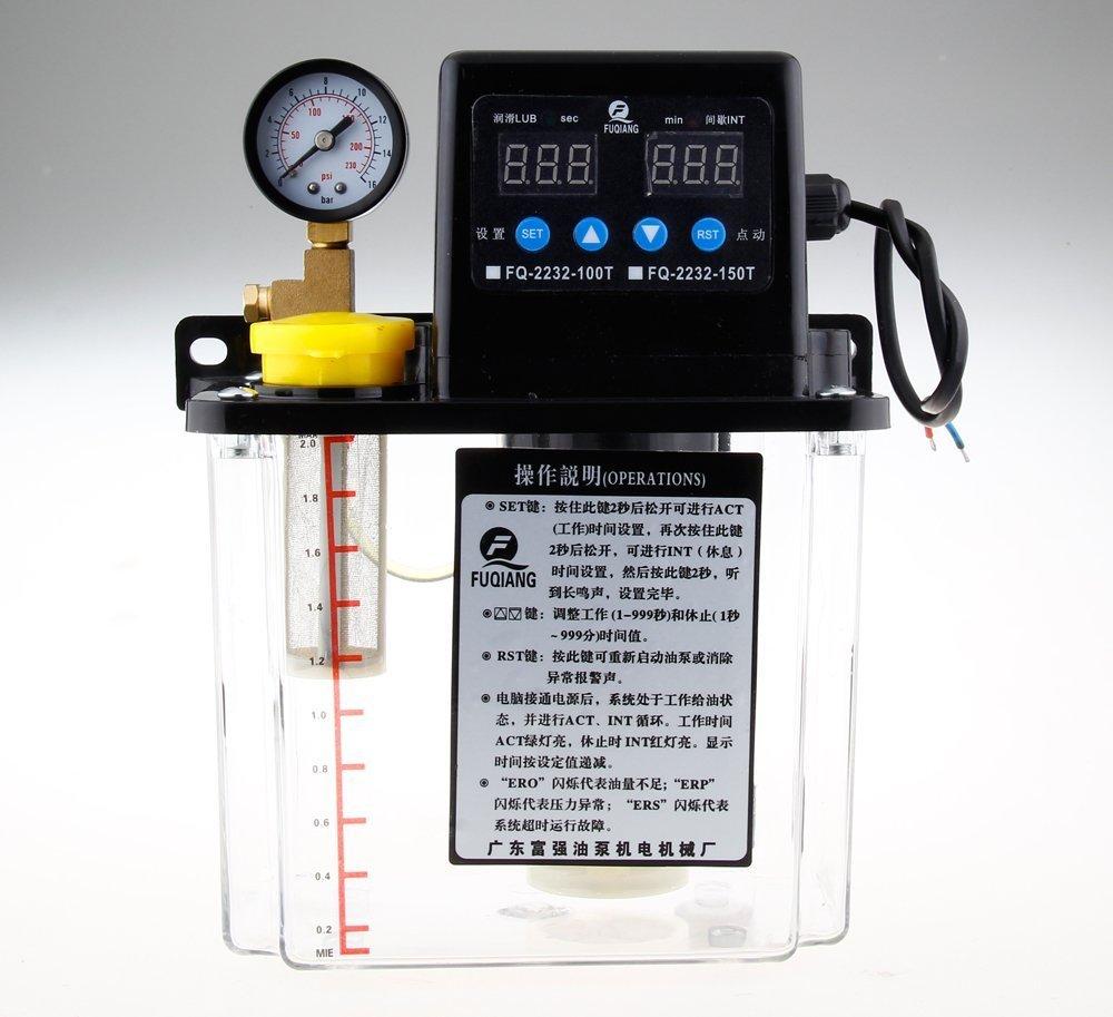 220V Dual Digital Display Automatic Lubrication Pump Oiler NC Pump 6mm - 1.5L