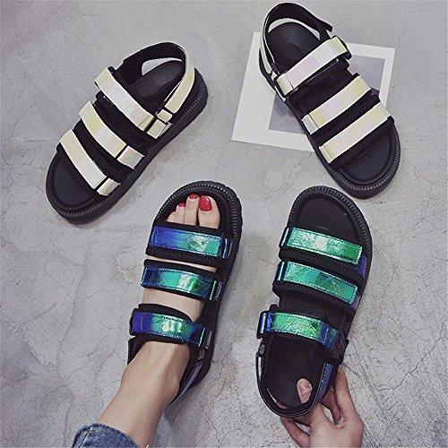 YMFIE Verano Toe green Zapatillas Moda 2018 Blando cómodo Sandals Toe Fondo Antideslizante Suela Nueva HUrSHdqxnw