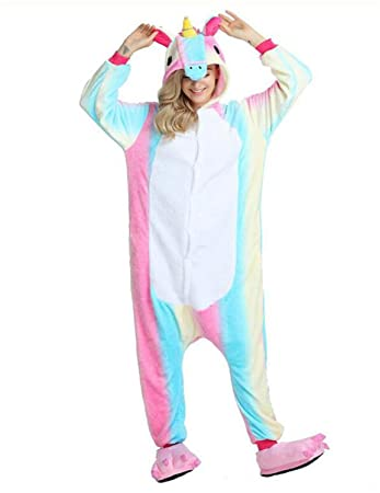Kenmont Unicornio Juguetes y Juegos Animal Ropa de Dormir Cosplay Disfraces Pijamas para Adulto Niños (Medium, Colorful Unicornio): Amazon.es: Juguetes y ...