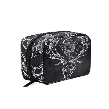 Amazon.com: Bolsa de maquillaje con diseño de calavera, para ...
