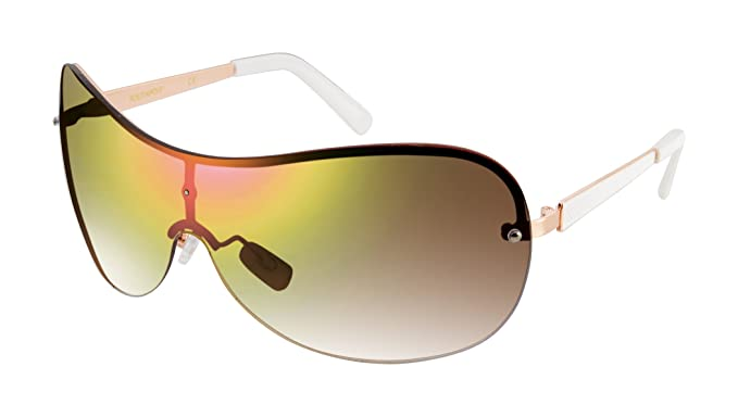 55d53a1f7e2a Amazon.com: Southpole Women's 444sp-rgdwh Shield Sunglasses, Rose ...