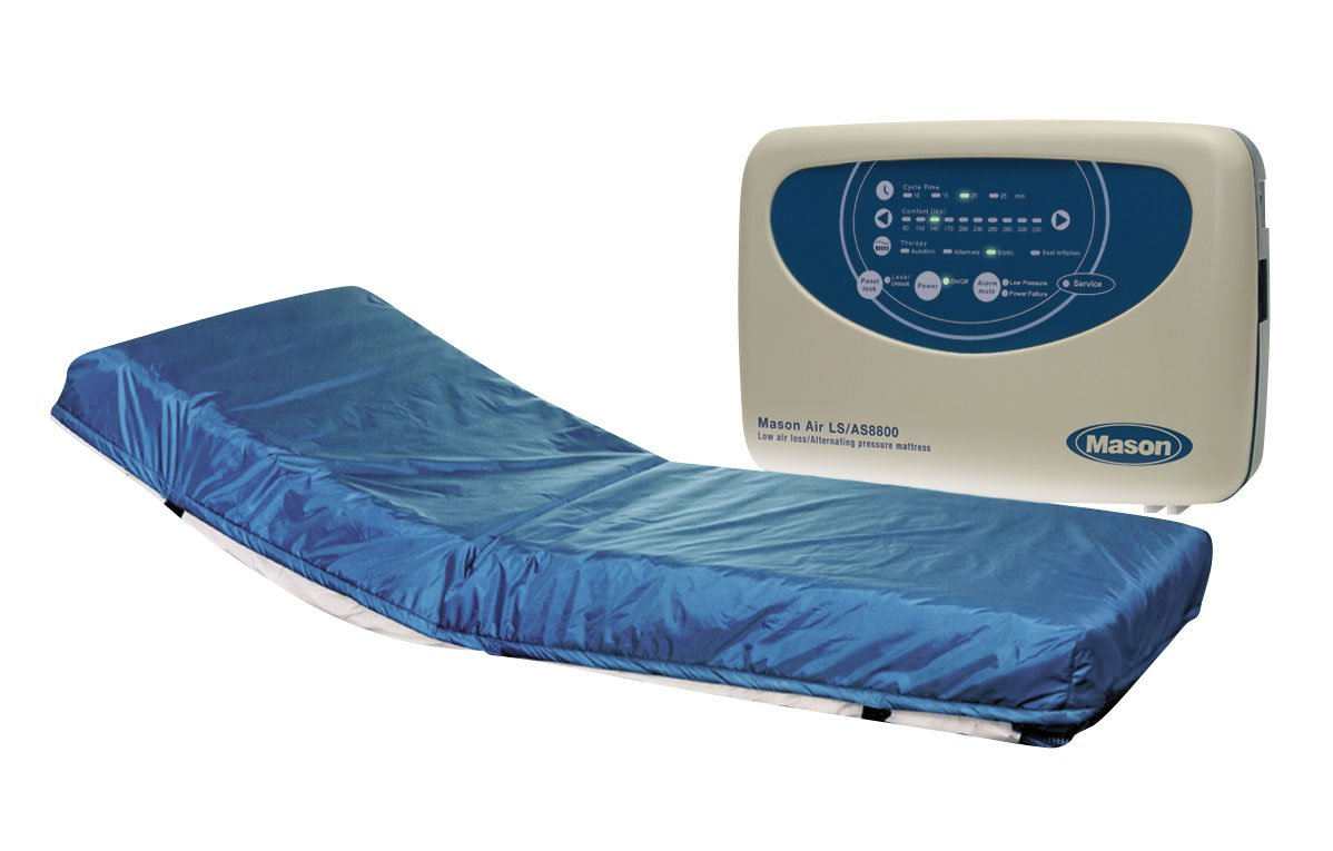 Drive Medical Masonair Alternating Pressure and Low Air Loss Mattress System, 80'' x 8''