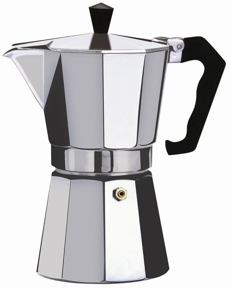 Wee's Beyond 7526-09 Brew-Fresh Aluminum Espresso Maker, 9 Cup, Silver by Wee's Beyond (Image #1)