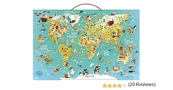 Vilac - Puzzle Mapa del Mundo. Fantástico magnético (2720): Amazon ...