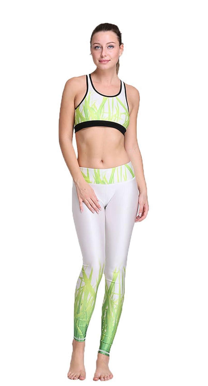 Cartiar Stretch & Breathable Anti-shock Chic Tank Pants Yoga Bodysuit