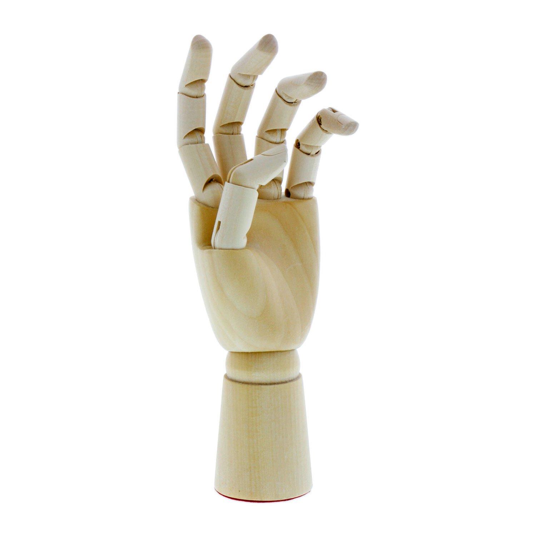 US Art Supply Artist Drawing Hand Manikin Articulated Wooden Mannequin (7'' Left Hand)