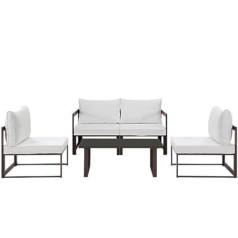 Sensational Amazon Com Modern Urban Contemporary 5 Pcs Outdoor Patio Ibusinesslaw Wood Chair Design Ideas Ibusinesslaworg