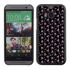 iKiki-Tech Estuche rígido para HTC One M8 - White Skull